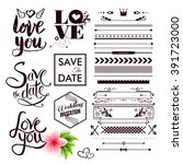 various save the date and all... | Shutterstock .eps vector #391723000