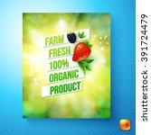 farm fresh 100 percent organic... | Shutterstock .eps vector #391724479