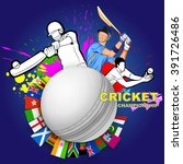 illustration of batsman playing ... | Shutterstock .eps vector #391726486