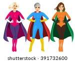 three beautiful girls in... | Shutterstock .eps vector #391732600