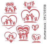 love family. parents and... | Shutterstock .eps vector #391735558