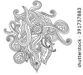 coloring pages for adults.... | Shutterstock .eps vector #391737883