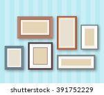 pictures gallery in frame on... | Shutterstock .eps vector #391752229