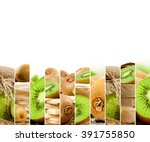 photo of fresh kiwi abstract... | Shutterstock . vector #391755850