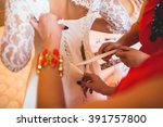 bridesmaid dress bride | Shutterstock . vector #391757800