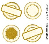 vector stamp without text. set...   Shutterstock .eps vector #391759810