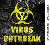 virus outbreak concept... | Shutterstock . vector #391760866