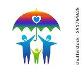 gay family vector icon. gay...   Shutterstock .eps vector #391764628