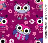 vector seamless pattern with... | Shutterstock .eps vector #391770979