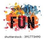 hand sketched inspirational... | Shutterstock .eps vector #391773490