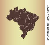 map of brazil | Shutterstock .eps vector #391773994
