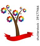 colorful  tree vector... | Shutterstock .eps vector #39177466