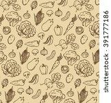 hand drawn handmade dark brown... | Shutterstock .eps vector #391777186
