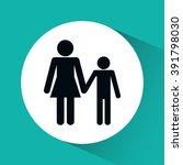 family icon design | Shutterstock .eps vector #391798030