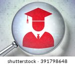 education concept  student with ... | Shutterstock . vector #391798648