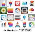 vector circle infographics.... | Shutterstock .eps vector #391798843