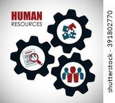human resources design | Shutterstock .eps vector #391802770
