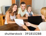 parents with daughter glad... | Shutterstock . vector #391810288