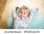 a three year old girl posing...   Shutterstock . vector #391816234