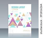 vector design layout cover... | Shutterstock .eps vector #391816264