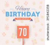 happy birthday vector design.... | Shutterstock .eps vector #391842358