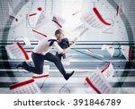Stock photo panic deadlines 391846789