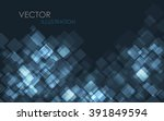 blue modern business card set.... | Shutterstock .eps vector #391849594