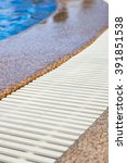 swimming pool edge with... | Shutterstock . vector #391851538