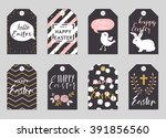 easter greeting cards... | Shutterstock .eps vector #391856560