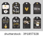 greeting cards collection for... | Shutterstock .eps vector #391857328