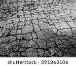Cracked Asphalt Road In High...