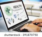 health insurance assurance... | Shutterstock . vector #391870750