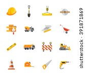 sixteen under construction icons | Shutterstock .eps vector #391871869