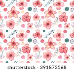 seamless texture with... | Shutterstock . vector #391872568
