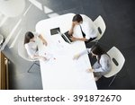 teamwork in the office | Shutterstock . vector #391872670