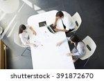 teamwork in the office   Shutterstock . vector #391872670