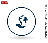 earth insurance web icon.... | Shutterstock .eps vector #391875346