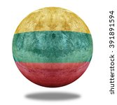 lithuania flag pattern on stone ... | Shutterstock . vector #391891594