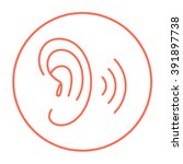 human ear line icon. | Shutterstock .eps vector #391897738