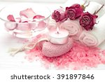 spa composition of roses | Shutterstock . vector #391897846