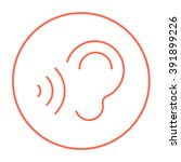 ear and sound waves line icon.   Shutterstock .eps vector #391899226