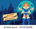 vector cartoon image of a woman ... | Shutterstock .eps vector #391910308