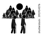 people walking design  | Shutterstock .eps vector #391914376