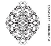 vintage baroque frame scroll... | Shutterstock . vector #391934038