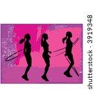 woman skipping | Shutterstock .eps vector #3919348