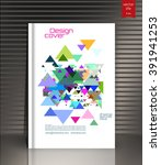 ebook cover. layout ebook cover.... | Shutterstock .eps vector #391941253