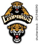 leopard mascot set | Shutterstock .eps vector #391948090