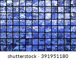 bright abstract mosaic blue... | Shutterstock . vector #391951180