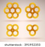 collection of intersecting... | Shutterstock .eps vector #391952353