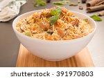yummy delicious chicken biryani   Shutterstock . vector #391970803